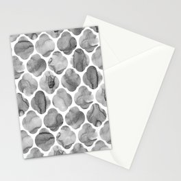 Black and White Tile Print Stationery Cards