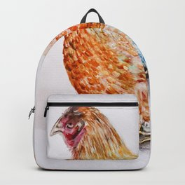 Blue-Laced Red Wyandotte Hen Backpack