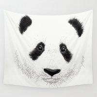 panda Wall Tapestries featuring PANDA by Laure.B