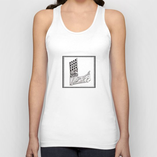 Zentangle L Monogram Alphabet Illustration Unisex Tank Top