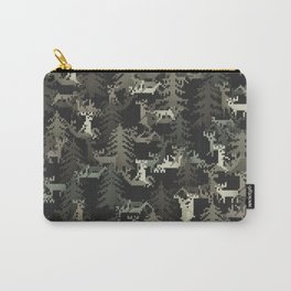 camo sweater with banging deers in the forest Carry-All Pouch