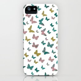 butterflies_pink iPhone Case