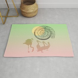 SUNNY DAY Simple Surreal Illustration  Rug