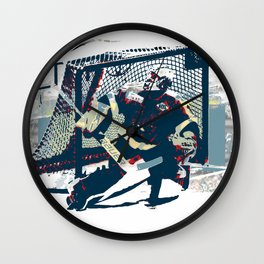 Goalie - Ice Hockey Player Wall Clock