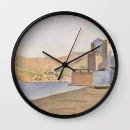 The Town Beach, Collioure, opus 165 Wall Clock