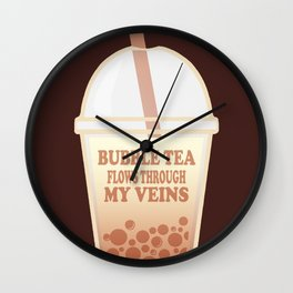 Bubble Tea Veins Wall Clock