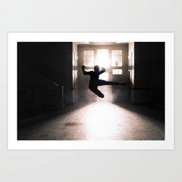 Jump contre jour Art Print