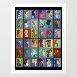 She Series Collage 1-4 Art Print