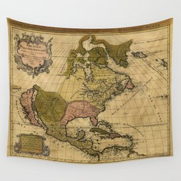 Amerique septentrionale North America Map (1694) Wall Tapestry