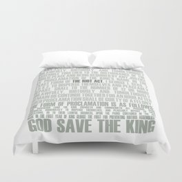 The Riot Act Duvet Cover