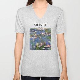 Monet - Water Lilies Unisex V-Neck