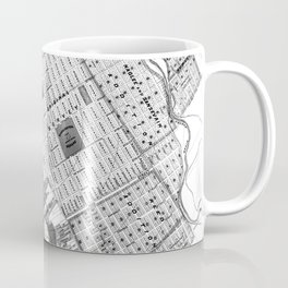 Vintage Map of San Jose California (1886) BW Coffee Mug