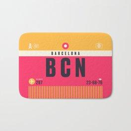 Baggage Tag A - BCN Barcelona El Prat Spain Bath Mat