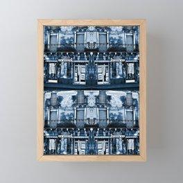 CLASSIC BLUE SICILIAN SOUND Framed Mini Art Print