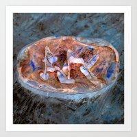 Kano Eihwaz Ansuz Runestone Inversion Art Print