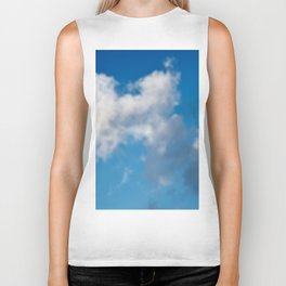 Dreaming floating candy on blue Biker Tank