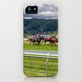 Horse Race At Trentham Racecourse iPhone Case