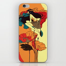 Poppies Girl in the Wind iPhone Skin
