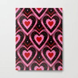 Heavenly Hearts - Happy Valentines Day Metal Print