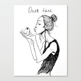 Duck face Canvas Print