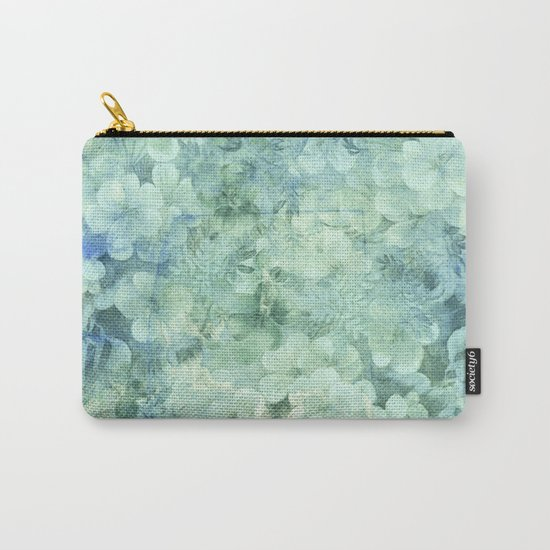 fleurettes and soft blue Carry-All Pouch