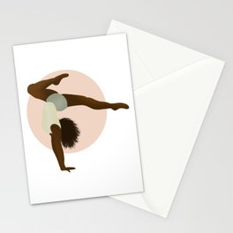 Gymnast in Color - Bend Stationery Cards