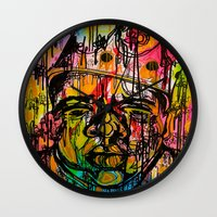 notorious Wall Clocks featuring Notorious  by Lauren Mair