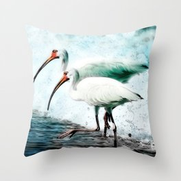 Ibis Splash Throw Pillow