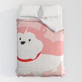 PINK BILLY BULL DOG Comforters