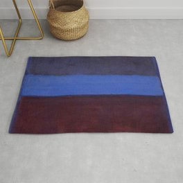 No.61 Rust and Blue 1953 by Mark Rothko Rug