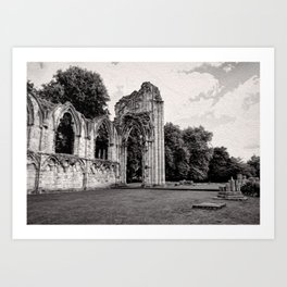St Mary's Abbey, York Art Print