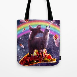 Space Sloth Riding Llama Unicorn - Taco & Burrito Tote Bag