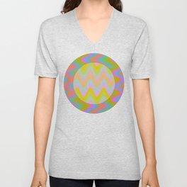 Spread 4 : Circle of Waves Unisex V-Neck
