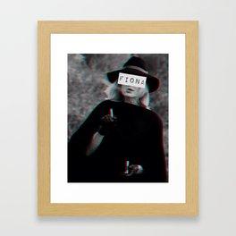 Fiona Goode & the Cig Framed Art Print