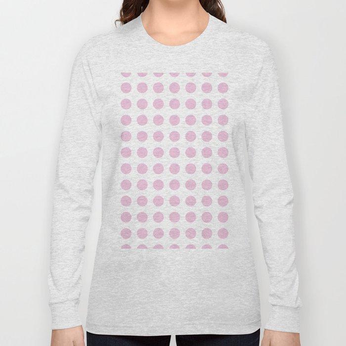 Simply Polka Dots in Blush Pink Long Sleeve T-shirt
