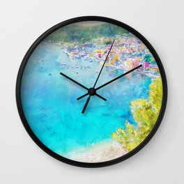 Côte d'Azur, Villefranche-sur-Mer, France, by Jennifer Berdy Wall Clock