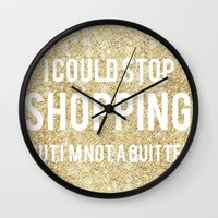 shopping Wall Clocks featuring Shopping by LuxuryLivingNYC