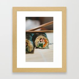First Try Cooking Kimbap Framed Art Print