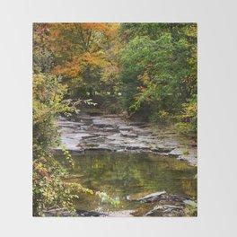 Fall Creek Landscape Throw Blanket