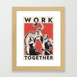 Work Together Framed Art Print