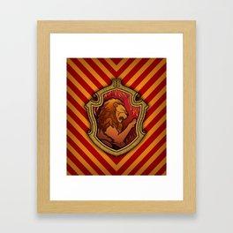 Hogwarts House Crest - Gryffindor Framed Art Print