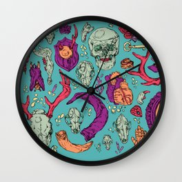 A Curious Collection Wall Clock