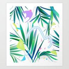 summer motel pattern Art Print