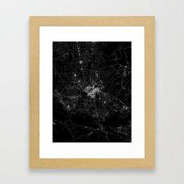 Bakersfield map California Framed Art Print