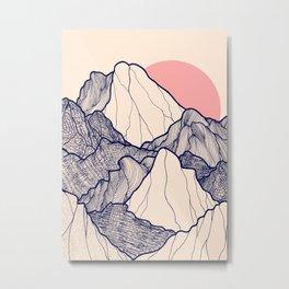 The calm morning mountains Metal Print