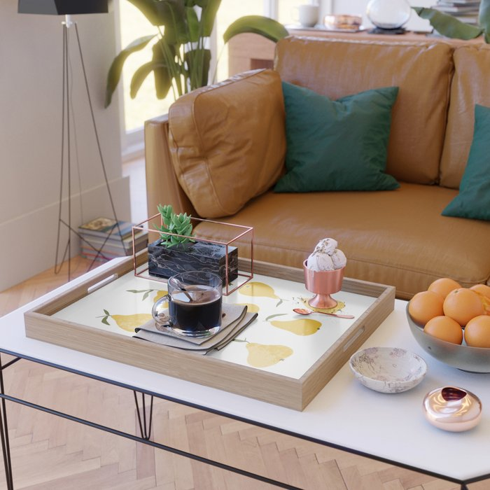 Yellow pear Serving Tray