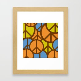 Cool Colorful Groovy Peace Symbols #society6 #decor #buyart #artprint Framed Art Print