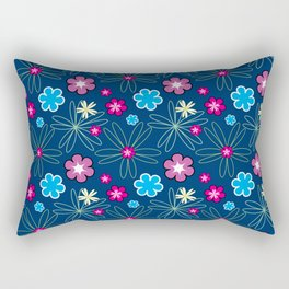 Multifloral Pattern Rectangular Pillow