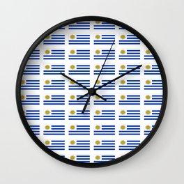 flag of Uruguay 2 -Uruguyan,montevideo,spanish,america,latine,Salto,south america,paysandu,costa,sun Wall Clock