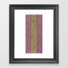 Green and Purple Framed Art Print